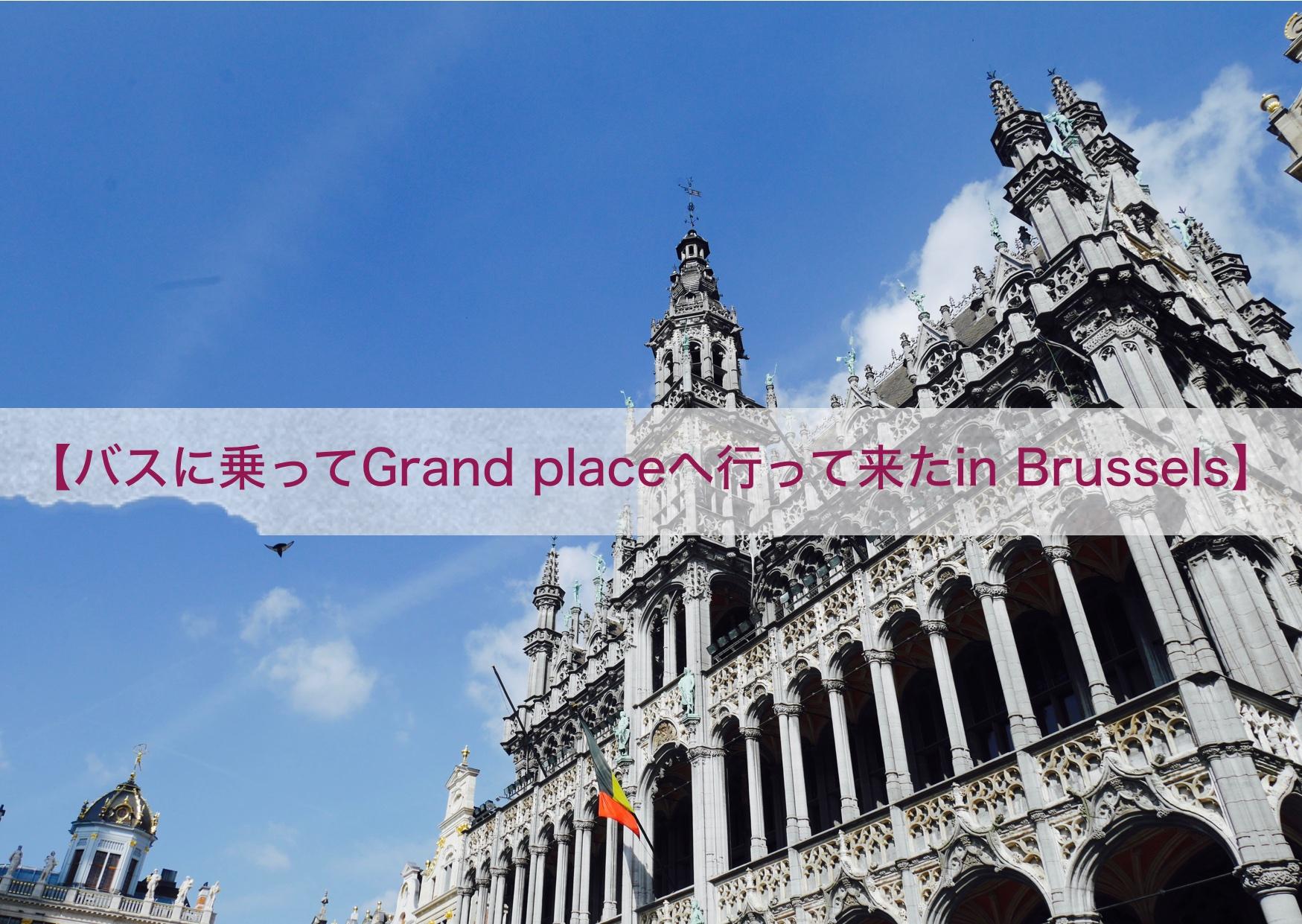 【バスに乗ってGrand Placeへ行って来たin Brussels】